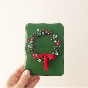 Christmas Wreath Nail Hand Painted Wall Art